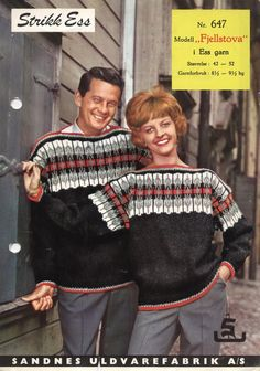 Norwegian Knitting, Old Magazines, Jumpers, Christmas Sweaters, Knitting Patterns, Knit Crochet, How To Make, How To Wear, Crafts
