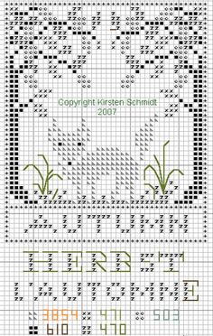 via Flickr Fall Cross Stitch, Cross Stitch Samplers, Cross Stitch Animals, Cross Stitch Charts, Cross Stitch Designs, Cross Stitching, Cross Stitch Patterns, Diy Embroidery, Cross Stitch Embroidery