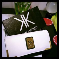 White & Black Kk Wallet One Day Sale $