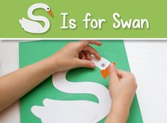 """Looking for a printable lowercase S craft for your preschooler? This """"S is for Swan"""" craft is perfect for practicing lowercase letter S! Alphabet Letter Crafts, Abc Crafts, Sheep Crafts, Alphabet Activities, Preschool Worksheets, Preschool Activities, Preschool Projects, Daycare Crafts, Daycare Ideas"""