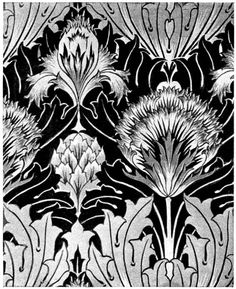 Artichoke C.F.A. Voysey Wallpaper Design - M.P. Verneuil and Eugene Grasset