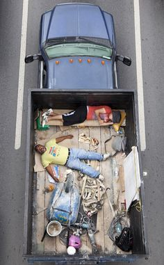 Alejandro Cartagena Captures Construction Workers In the Back of Trucks on Their Way to Work | Beautiful/Decay Artist & Design