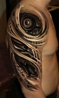 biomechanical tattoos for men Biomechanical Tattoos, Biomech Tattoo, Cyborg Tattoo, Armor Tattoo, Weird Tattoos, 3d Tattoos, Best Sleeve Tattoos, Badass Tattoos, Tribal Tattoos