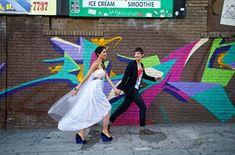 Modern Urban Graffiti Wedding