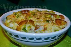 Batatas na Frigideira com Cebolas e Alho Poro ~ Veganana