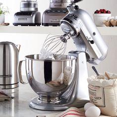 KitchenAid® Artisan® Stand Mixer - Metallic Chrome oh boy do we want Santa to bring this! #Searswishlist