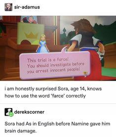 Kingdom Hearts Funny, Kingdom Hearts Fanart, Geek Humor, Great Videos, Funny Games, Just Amazing, Final Fantasy, It Hurts, Video Games