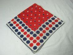 Dotty for dots! Vintage POLKA DOT HANKIE Handkerchief  by LavenderGardenCottag