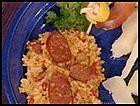 chorizo rice (arroz con chorizo)