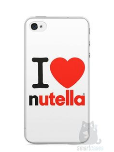 Capa Iphone 4/S I Love Nutella - SmartCases - Acessórios para celulares e tablets :)