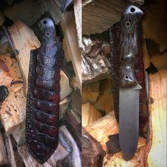 710 split with leather sheath