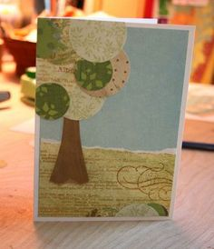 The Creative Place: How To: Make a Paper Tree Card