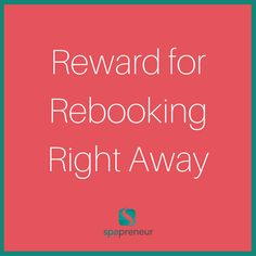 You need to get the client back in - for their health and your appointment book - if you get them booked immediately, they will be less likely to cancel. Try a $5 rebooking or an upgrade. #100 #spa #businessadvice #spaadvice #spalife #guide #spatips #tips #ebook #massage #skincare #nails #nailcare #dayspa #spaprofessional #businesstips #biztips #biztip #entrepreneur #entrepreneurial #businessowner #advice #tip #advicequotes #sales #branding #smallbiz #success #brandstandards #environment