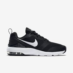 nike air max siren womens trainers black&white and red wedding