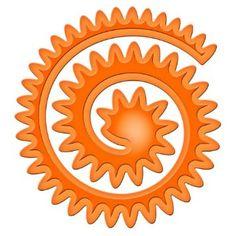Amazon.com: Spellbinders S4-357 Shapeabilities Spiral Blossom Three Die Templates: Arts, Crafts & Sewing