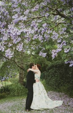 I love Jacaranda trees and always thought an October/November wedding under one would be just beautiful.