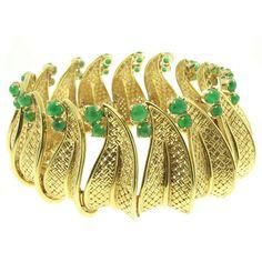 Ruser Emerald Gold Bracelet