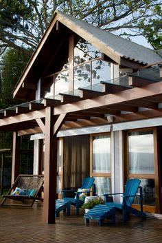 Casa de Praia : Casas rústicas por Espaço do Traço arquitetura