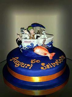 #amantidelmare #pesca #cake #Party #birthey #alessandradurante #handmade #withlove