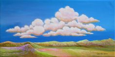 Only 45 min. left to Bid. GREAT Price! Clouds Over Happy Valley-Original acrylic painting by the artist, Realism #Realism