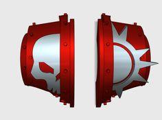 10 x Dusk Raiders 2 = Cataphractii Shoulder Sets 3d printed
