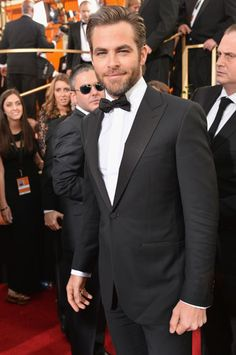 Chris Pine at the 2014 Golden Globes