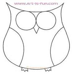 Simple Owl Drawings