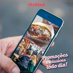 Com o MyKind os empreendedores de street food podem enviar promoções exclusivas aos seus seguidores! Inscreva-se para baixar o app. É free! www.mykind.com.br