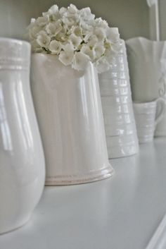 You can& use up CREATIVITY. All White, Pure White, White Lace, White Stuff, White Cottage, Cottage Style, Cottage Living, Country Living, Vibeke Design