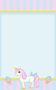 Unicorn Stationary, Stationary Printable, Unicorn Invitations, Birthday Invitations Kids, Diy Invitations, Unicorn Birthday, Unicorn Party, Unicorn Printables, Rainbow Wallpaper