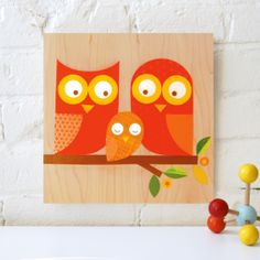 Orange Owl Family