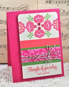 Thought Of You Card by Dawn McVey for Papertrey Ink (January 2013)