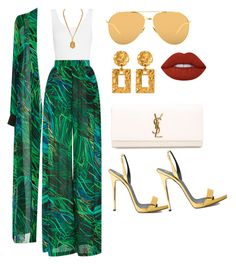 """""""Blem """" by amoney-1 ❤ liked on Polyvore featuring Yummie by Heather Thomson, Elie Saab, Lime Crime, Giuseppe Zanotti, Yves Saint Laurent, Linda Farrow and Ben-Amun"""
