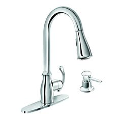 170... Can use without plate Moen Kipton Chrome 1-Handle Pull-Down Kitchen Faucet