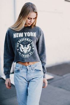 Brandy ♥ Melville | Nancy NY Broadway and Prince Sweatshirt - Graphics