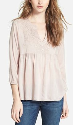 pretty embroidered babydoll top @Nordstrom http://rstyle.me/n/g2skvr9te