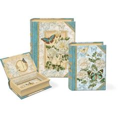 Punch Studios White Antique Roses Small Nesting Book Boxes - Set of 3 by Punch Studio, http://www.amazon.com/dp/B004UC6XT6/ref=cm_sw_r_pi_dp_N225pb01EJ3BF
