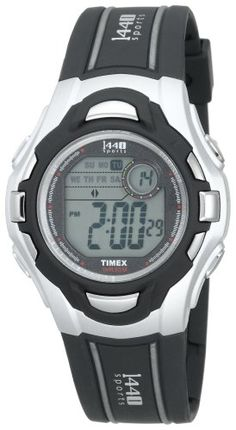 Timex Mens T5H091 1440 Sports Digital GrayBlack Resin Strap Watch >>> You can get more details by clicking on the image.