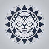 Tatuagem Polinésia com estilo Ilustrações De Stock Royalty-Free