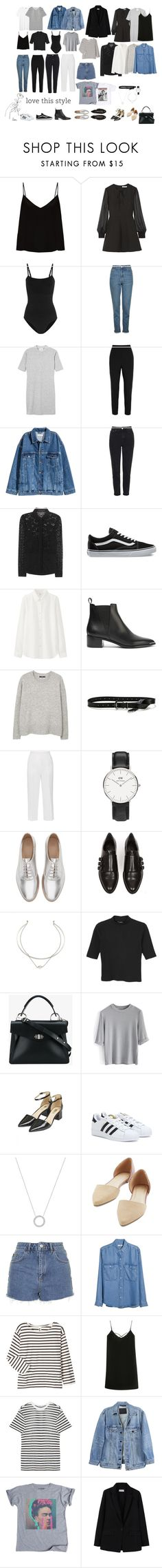 """""""WARDROBE 2017.1"""" by juliaviana ❤ liked on Polyvore featuring Raey, Elizabeth and James, Wolford, Topshop, Monki, Dolce&Gabbana, Burberry, Vans, Uniqlo and Acne Studios"""