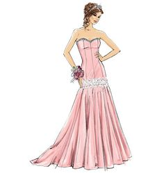 M7050, Misses'/Miss Petite Dresses and Belt