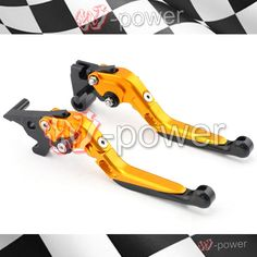 39.99$  Buy now - http://ali9xn.shopchina.info/1/go.php?t=32793693781 - fite For yamaha yzf-r25 yzf-r3 mt-25 mt-03 2015-2016 motorcycle adjustable folding extensible brake clutch lever gold + black  #magazineonlinewebsite