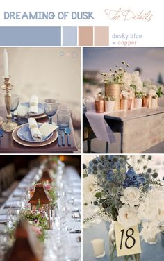 Blue and Copper; what a pretty combination! What do you think?
