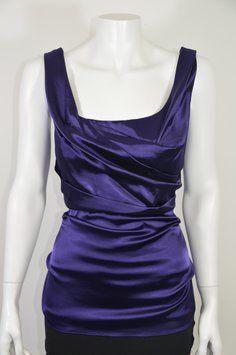 Elie Tahari Top Purple$33