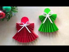 Bricolage de Noël: Comment faire un Ange de Noël en papier - Décoration de Noël - YouTube