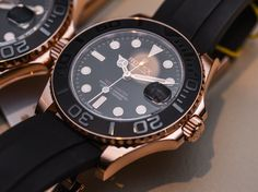 Rolex Yacht-Master 116655 and 268655 Everose Gold Ceramic Watches Hands-On