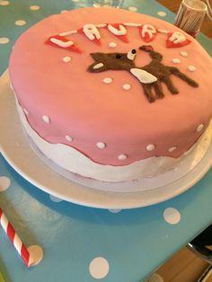 taart met hertje 1e verjaardag