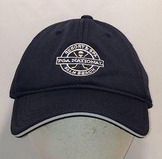 bb5290ae354 Vintage Golf Hat Caps Baseball Cap Hats PGA National Resort and Spa Palm  Beach Florida Ball Cap Navy Blue White Hats For Men T105 A8186