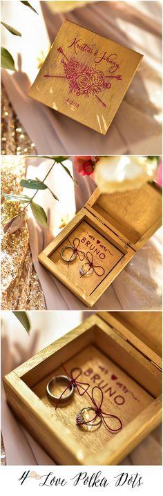 Boho Gold Wedding Ring bearer box 4lovepolkadots #boho #bohemian #gold #weddingideas #modern #glam