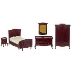 Mahogany Chateau Lorraine Bedroom Set 3pc